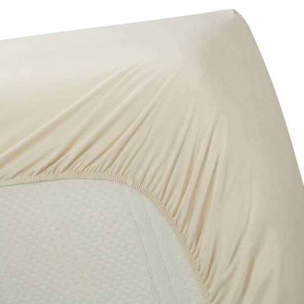 Beddinghouse percale katoen hoeslaken - 100% percale katoen - 1-persoons (80/90x200 cm) - Natural