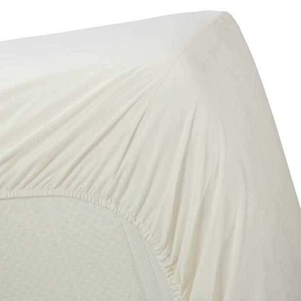 Beddinghouse percale katoen hoeslaken - 100% percale katoen - Lits-jumeaux (180x200 cm) - Off white