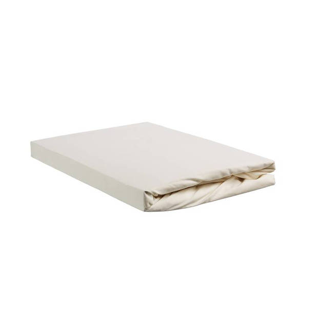 Beddinghouse percale katoen hoeslaken - 100% percale katoen - Lits-jumeaux (160x200 cm) - Off white