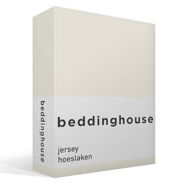 Beddinghouse jersey hoeslaken - 100% gebreide jersey katoen - Lits-jumeaux (180x200/220 cm) - Natural