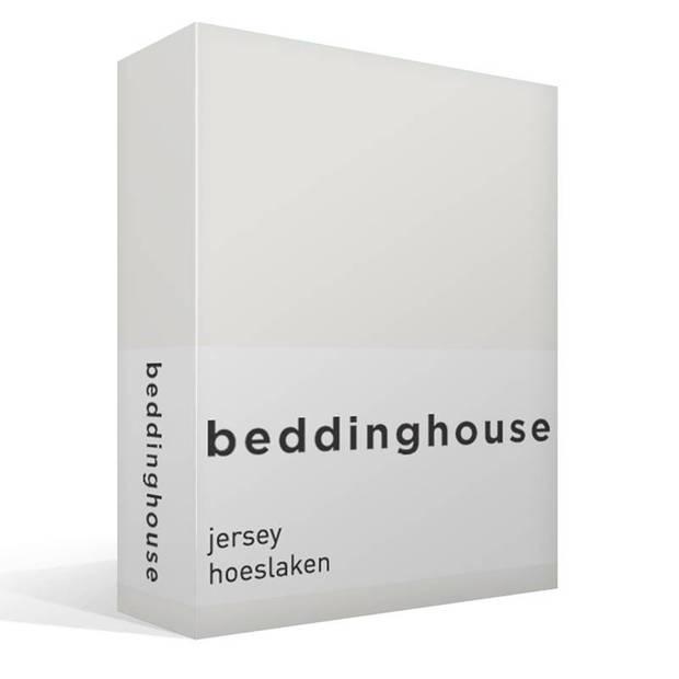 Beddinghouse jersey hoeslaken - 100% gebreide jersey katoen - Lits-jumeaux (180x200/220 cm) - Off white