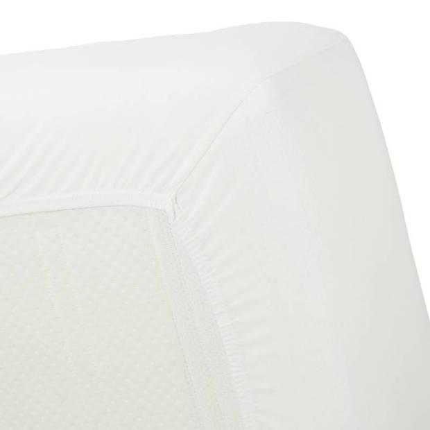 Beddinghouse jersey hoeslaken - 100% gebreide jersey katoen - 2-persoons (140x200/220 cm) - Off white