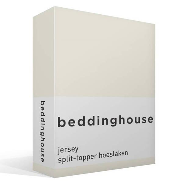 Beddinghouse jersey split-topper hoeslaken - 100% gebreide jersey katoen - 2-persoons (140x200/220 cm) - Natural