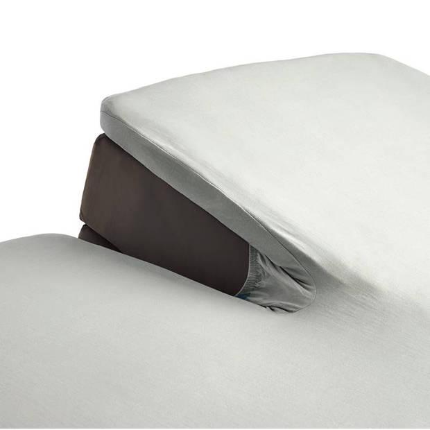 Beddinghouse jersey split-topper hoeslaken - 100% gebreide jersey katoen - Lits-jumeaux (180x200/220 cm) - Off white