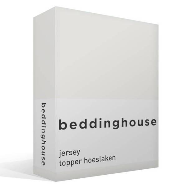 Beddinghouse jersey topper hoeslaken - 100% gebreide jersey katoen - 2-persoons (140x200/220 cm) - Off white