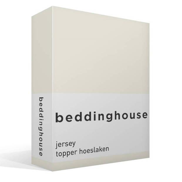 Beddinghouse jersey topper hoeslaken - 100% gebreide jersey katoen - 2-persoons (140x200/220 cm) - Natural