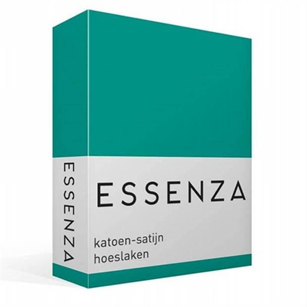 Essenza Satin hoeslaken - 100% katoen-satijn - 2-persoons (140x200 cm) - Strong Mint