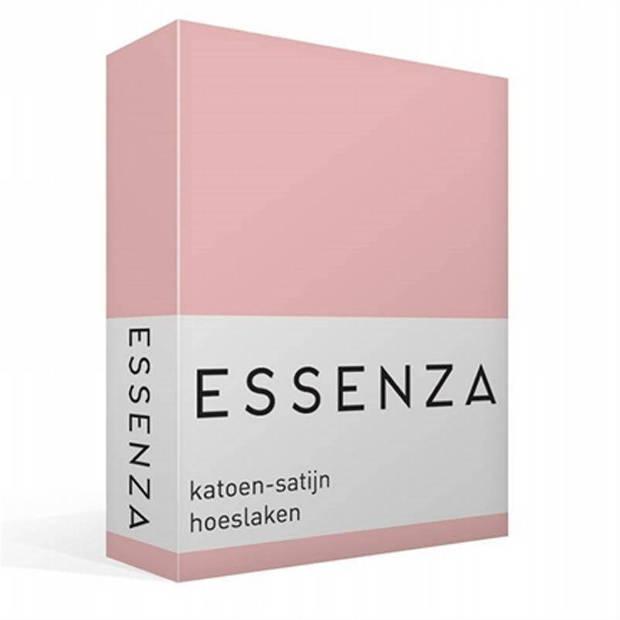 Essenza Satin hoeslaken - 100% katoen-satijn - 1-persoons (90x210 cm) - Lychee
