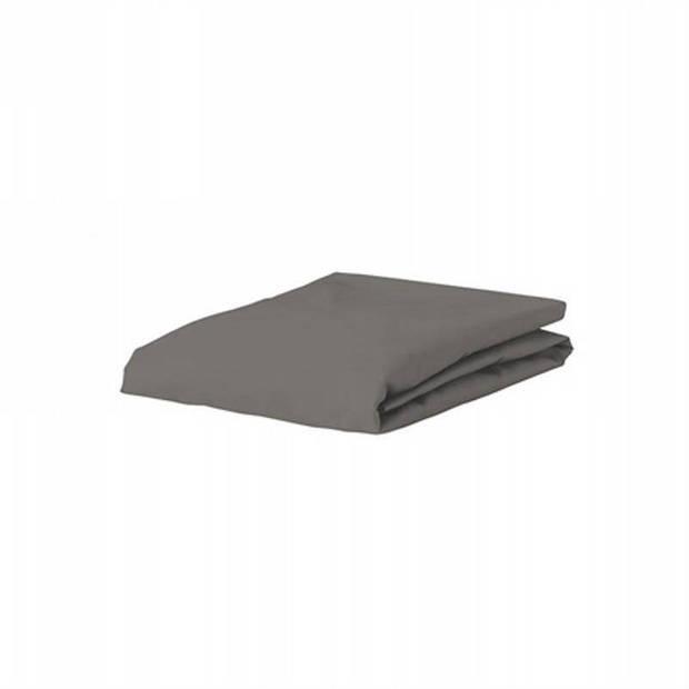 Essenza Premium percale katoen hoeslaken extra hoog - 100% percale katoen - 1-persoons (90x210 cm) - Steel grey