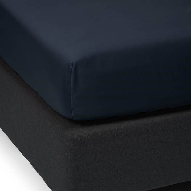 Essenza Satin hoeslaken - 100% katoen-satijn - 2-persoons (140x200 cm) - Nightblue