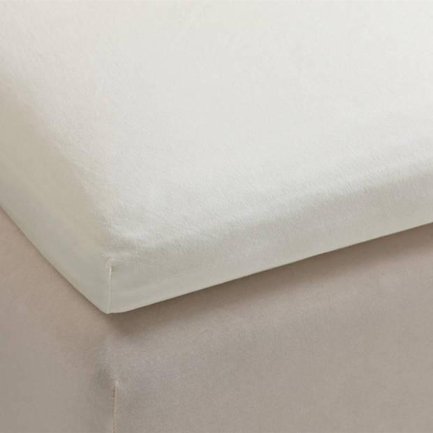 Beddinghouse percale katoen topper hoeslaken - 100% percale katoen - Lits-jumeaux (180x200 cm) - Off white