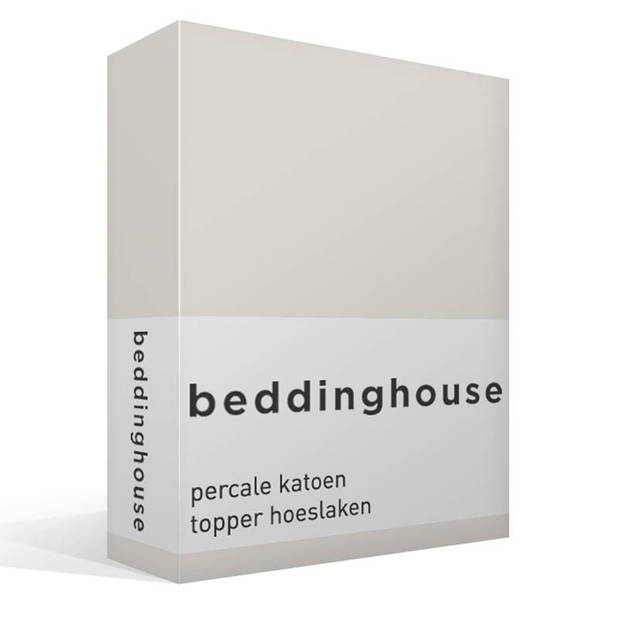 Beddinghouse percale katoen topper hoeslaken - 100% percale katoen - 1-persoons (80/90x210/220 cm) - Off white