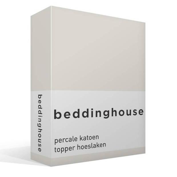 Beddinghouse percale katoen topper hoeslaken - 100% percale katoen - 1-persoons (80/90x200 cm) - Off white