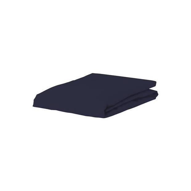 Essenza Premium jersey hoeslaken extra hoog - 97% gebreide katoen - 3% elastan - 1-persoons (90/100x200/220 cm) - Blauw