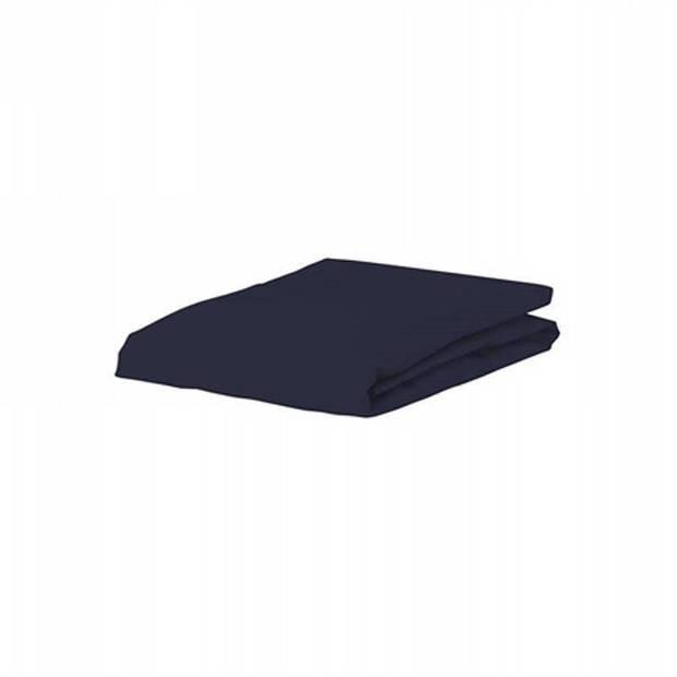 Essenza Premium jersey hoeslaken extra hoog - 97% gebreide katoen - 3% elastan - 2-persoons (140/160x200/220 cm) - Blauw
