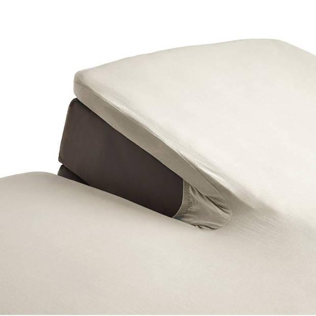 Beddinghouse percale katoen split-topper hoeslaken - 100% percale katoen - Lits-jumeaux (180x210/220 cm) - Natural