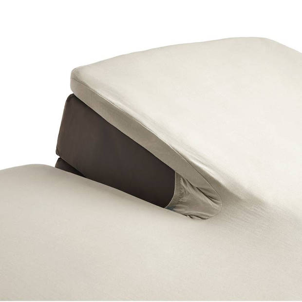 Beddinghouse percale katoen split-topper hoeslaken - 100% percale katoen - Lits-jumeaux (160x210/220 cm) - Natural