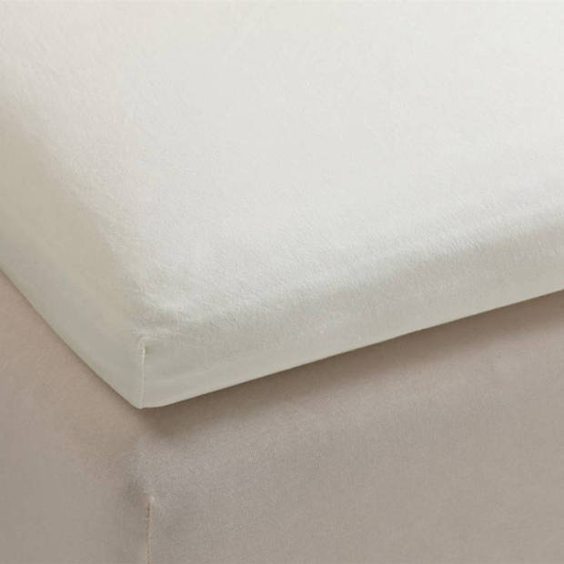Beddinghouse percale katoen topper hoeslaken - 100% percale katoen - Lits-jumeaux (180x210/220 cm) - Off white