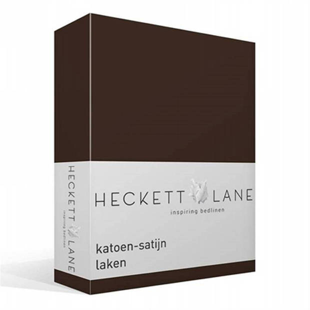 Heckett & Lane Heckett & Lane katoen-satijn laken - 100% katoen-satijn - Lits-jumeaux (270x290 cm) - Grijs