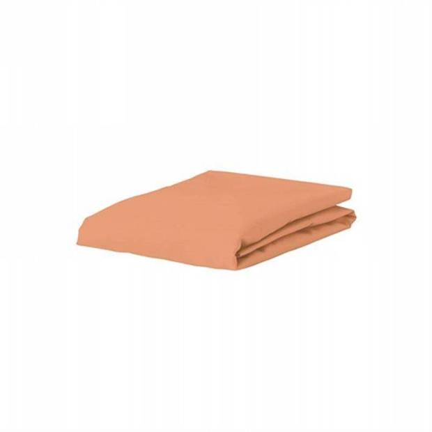 Essenza Premium jersey hoeslaken extra hoog - 97% gebreide katoen - 3% elastan - 2-persoons (140/160x200/220 cm) - Peach