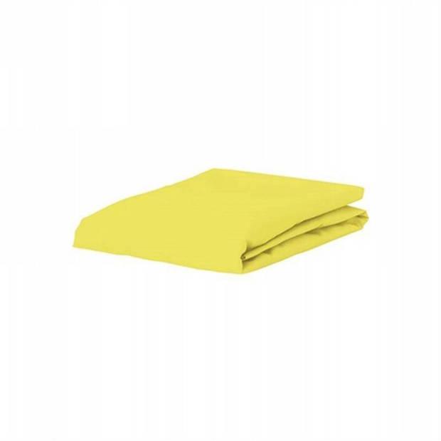 Essenza Satin hoeslaken - 100% katoen-satijn - 1-persoons (90x210 cm) - Mellow Yellow