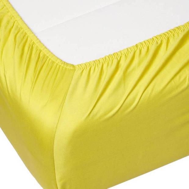 Essenza Satin hoeslaken - 100% katoen-satijn - 2-persoons (140x200 cm) - Mellow Yellow
