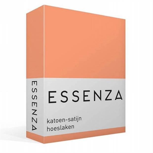 Essenza Satin hoeslaken - 100% katoen-satijn - 1-persoons (90x210 cm) - Peach