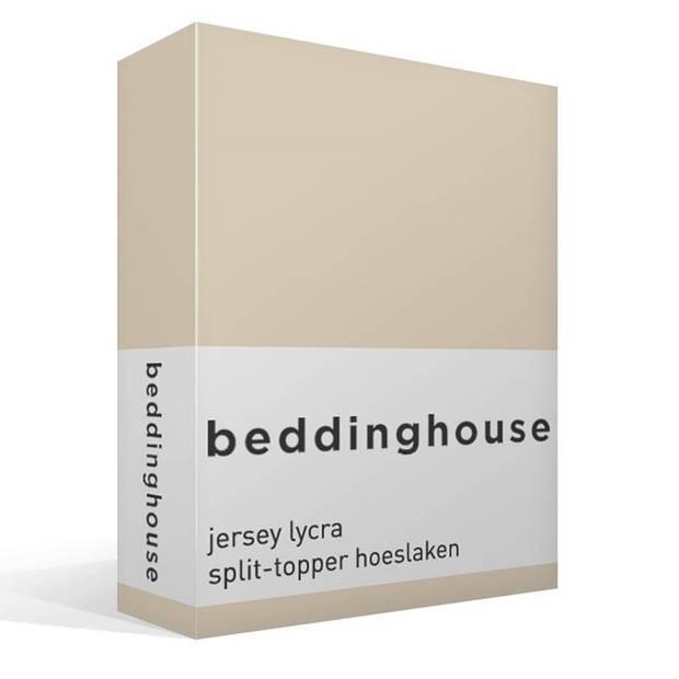 Beddinghouse jersey lycra split-topper hoeslaken - Lits-jumeaux (200x200/220 cm)