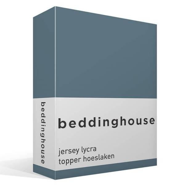 Beddinghouse jersey lycra topper hoeslaken - 95% gebreide katoen - 5% lycra - 1-persoons (90/100x200/220 cm) - Cool Grey