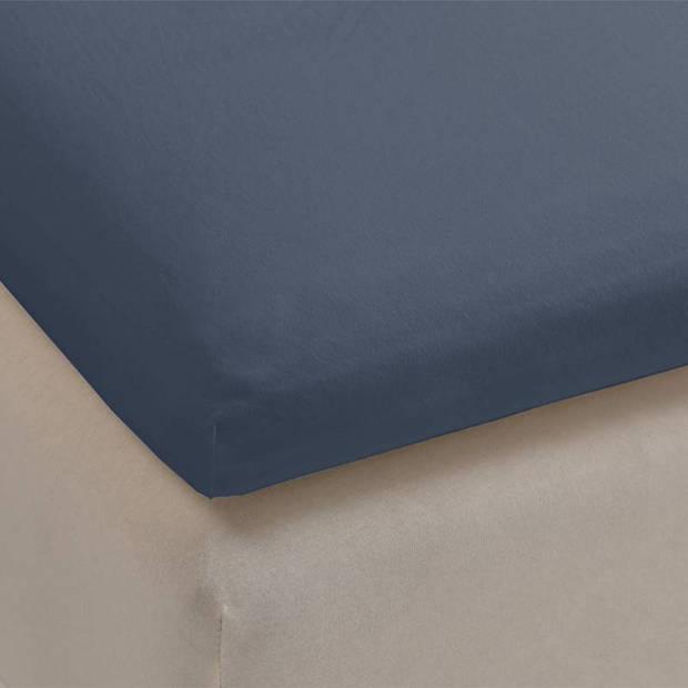 Beddinghouse jersey lycra topper hoeslaken - 95% gebreide katoen - 5% lycra - 1-persoons (70/80x200/220 cm) - Cool Grey