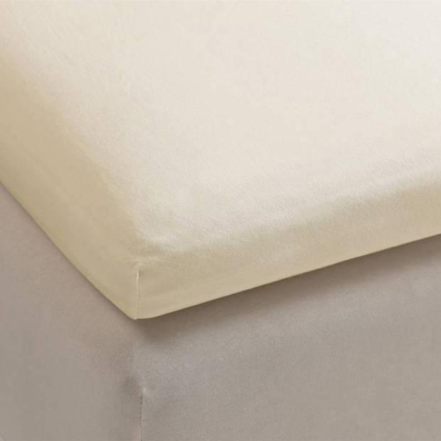 Beddinghouse jersey lycra topper hoeslaken - 95% gebreide katoen - 5% lycra - Lits-jumeaux (180/200x200/220 cm) - Beige