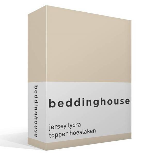 Beddinghouse jersey lycra topper hoeslaken - 95% gebreide katoen - 5% lycra - 1-persoons (90/100x200/220 cm) - Natural