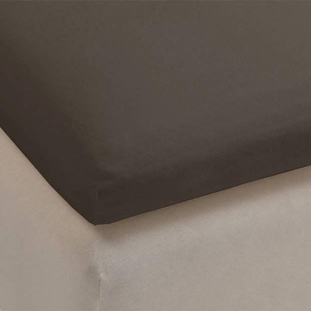 Beddinghouse jersey lycra topper hoeslaken - 95% gebreide katoen - 5% lycra - 1-persoons (70/80x200/220 cm) - Warm grey