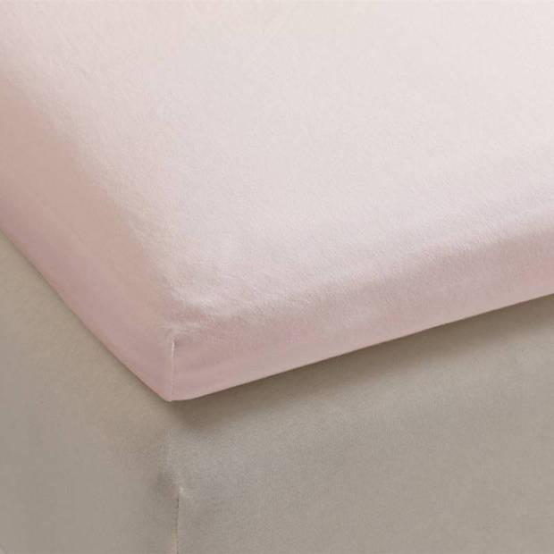 Beddinghouse jersey topper hoeslaken - 100% gebreide jersey katoen - 2-persoons (140x200/220 cm) - Soft Pink