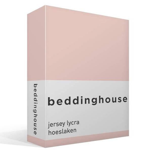 Beddinghouse jersey lycra hoeslaken - 95% gebreide katoen - 5% lycra - 1-persoons (90/100x200/220 cm) - Light Pink