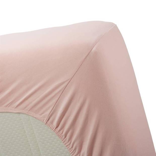 Beddinghouse jersey lycra hoeslaken - 95% gebreide katoen - 5% lycra - 1-persoons (70/80x200/220 cm) - Light Pink