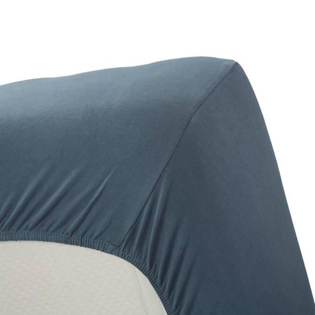 Beddinghouse jersey lycra hoeslaken - 95% gebreide katoen - 5% lycra - Lits-jumeaux (180/200x200/220 cm) - Cool Grey