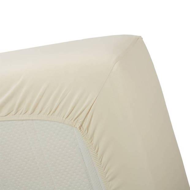 Beddinghouse jersey lycra hoeslaken - 95% gebreide katoen - 5% lycra - Lits-jumeaux (180/200x200/220 cm) - Natural