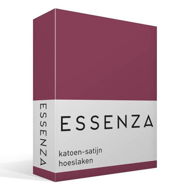 Essenza Satin hoeslaken - 100% katoen-satijn - 1-persoons (90x210 cm) - Marsala