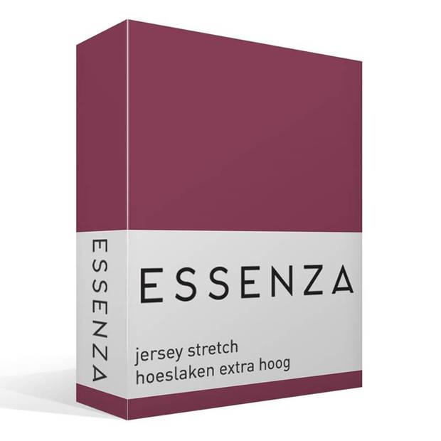 Essenza Premium jersey hoeslaken extra hoog - 97% gebreide katoen - 3% elastan - 2-persoons (140/160x200/220 cm) - Paars