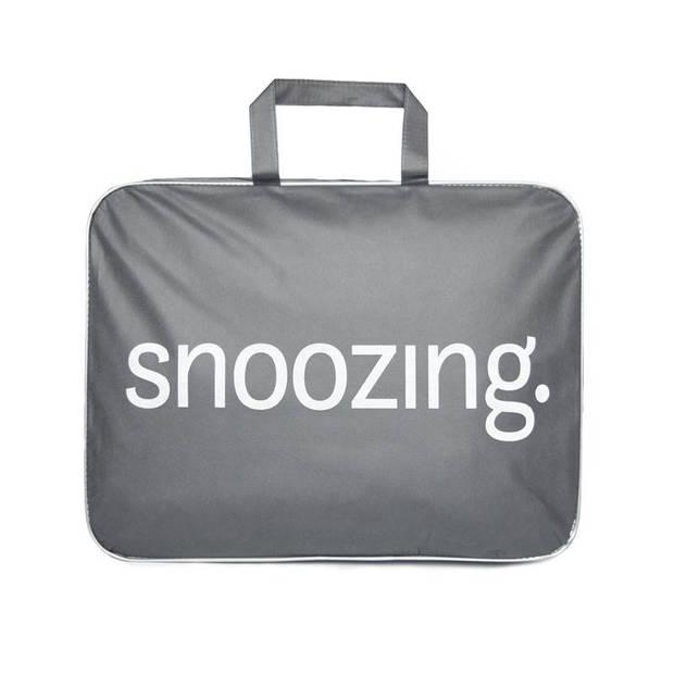Snoozing Rhodos - Katoen - 4-seizoenen dekbed - Eenpersoons - 140x220 cm - Wit