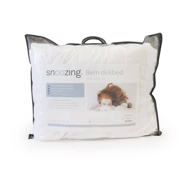 Snoozing Bern Bamboo - Zomerdekbed - Tweepersoons - 200x220 cm - Wit