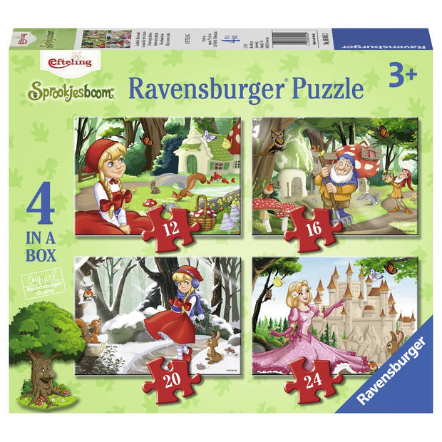 Ravensburger puzzel 4-in-1 Efteling - 12 + 16 + 20 + 24 stukjes