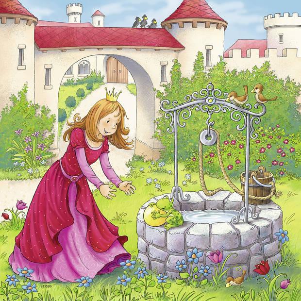 Ravensburger puzzel Disney Rapunzel, Roodkapje en de Kikkerprins - 3 x 49 stukjes