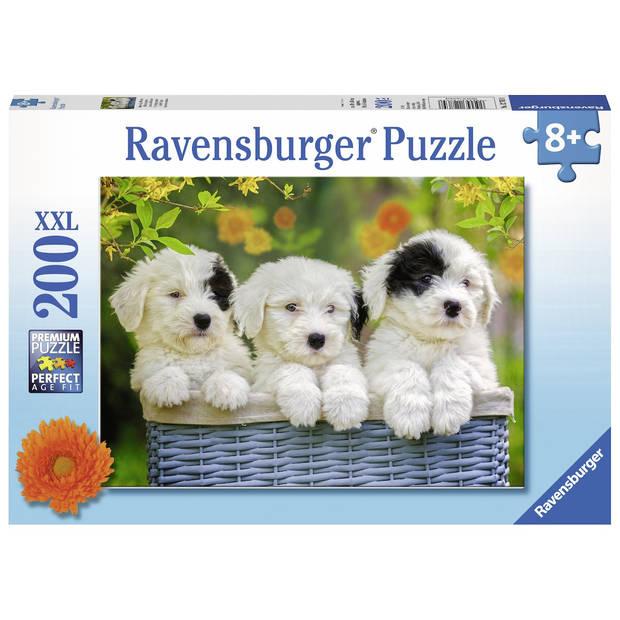 Ravensburger puzzel XXL schattige puppy's - 200 stukjes