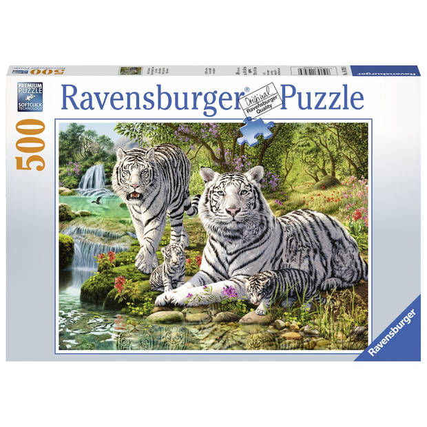 Ravensburger puzzel witte roofkatten - 500 stukjes