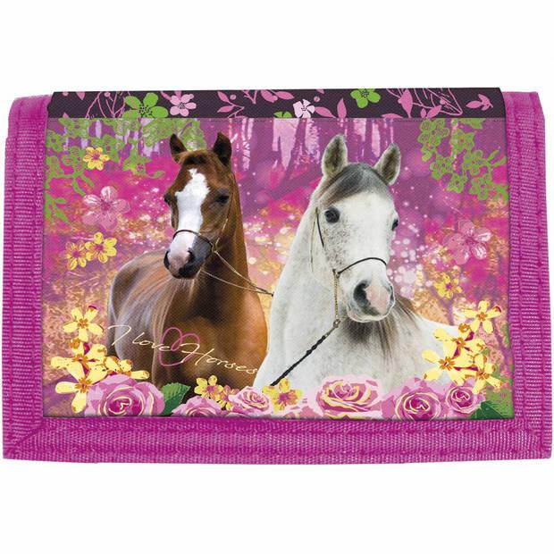 Paarden Forest - Portemonnee - 12 x 8 cm - Multi