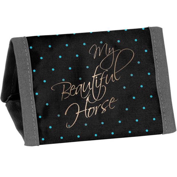 My beautiful horse - Portemonnee - 12 x 8.5 cm - Zwart