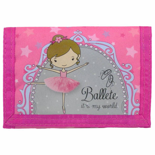 Ballet Ballerina - Portemonnee - 12 x 8 cm - Roze