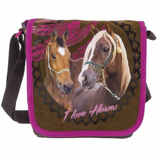 Animal Pictures Paarden Dreamcatcher - Kleine Schoudertas - 25 x 21 cm - Multi